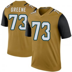 Nike Donnell Greene Jacksonville Jaguars Men's Legend Gold Color Rush Bold Jersey