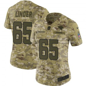Nike Brandon Linder Jacksonville Jaguars Women's Limited Camo 2018 Salute to Service Jersey