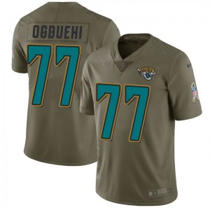 Nike Cedric Ogbuehi Jacksonville Jaguars Youth Limited Green 2017 Salute to Service Jersey