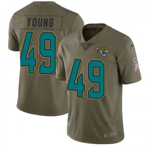 Nike Roderick Young Jacksonville Jaguars Youth Limited Green 2017 Salute to Service Jersey