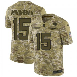 Nike Gardner Minshew Jacksonville Jaguars Youth Limited Camo 2018 Salute to Service Jersey