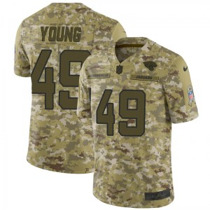 Nike Roderick Young Jacksonville Jaguars Youth Limited Camo 2018 Salute to Service Jersey