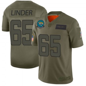 Nike Brandon Linder Jacksonville Jaguars Youth Limited Camo 2019 Salute to Service Jersey