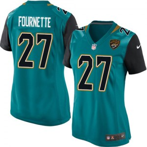 Nike Leonard Fournette Jacksonville Jaguars Women's Game Green Teal Team Color Jersey